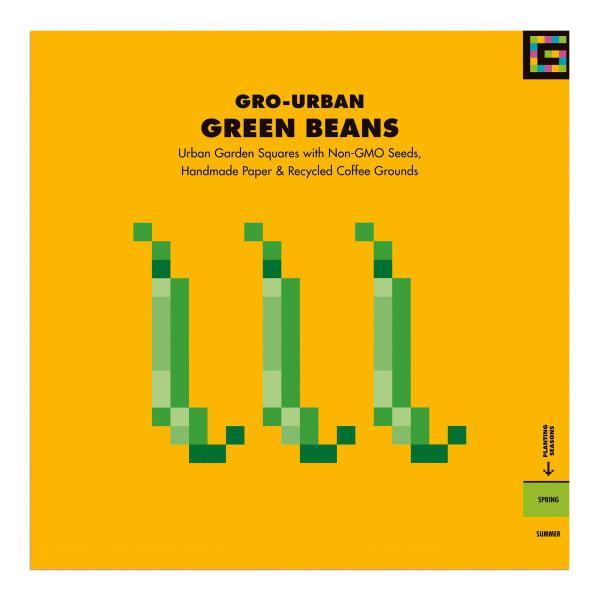 Gro urban green beans urban garden seed square