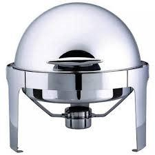 Stainless steel round roll top chafing dish-6.8 litre