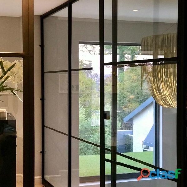 Glass and Steel doors and enclosure to give your property class