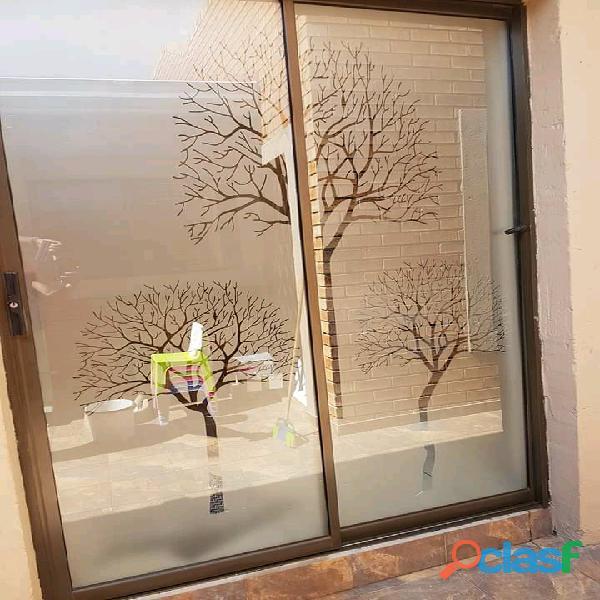 Window frosting/sandblasting