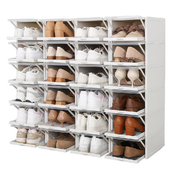 3Pcs Push Drawer Type Shoe Box Shoe Organizer Drawer