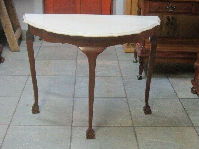Ball and claw half moon table