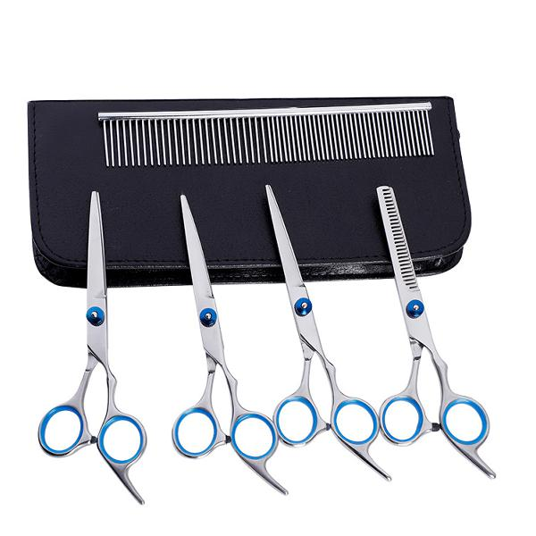 7pcs pet dog cat hair cutting scissors thinning shears comb