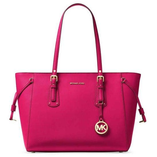 Michael Kors Voyager Leather Multi Function Tote Pink