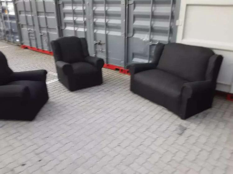 New 3 piece black couch