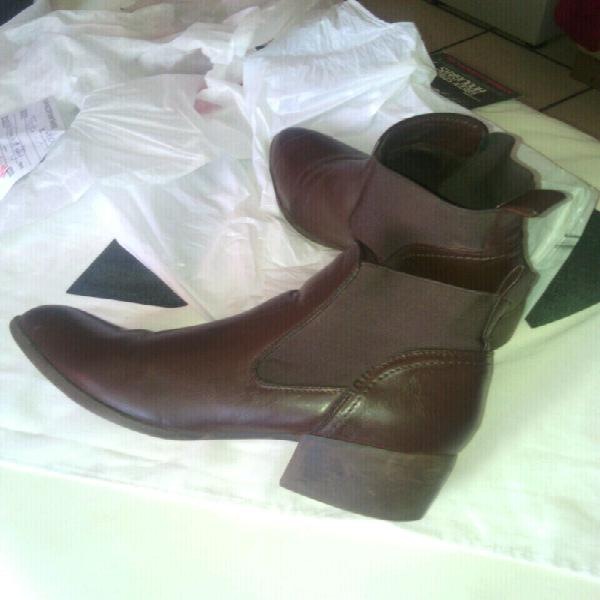 Brown leather ankle boots for sale