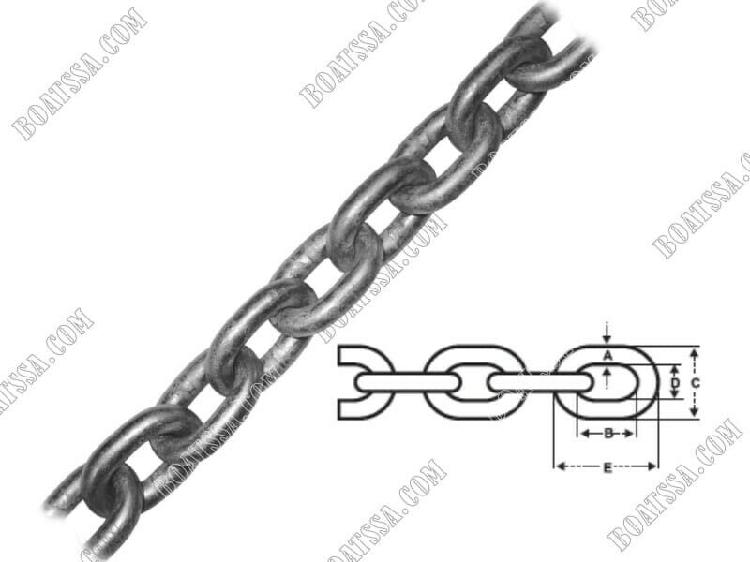 Hot dip galvanized chain 7mm