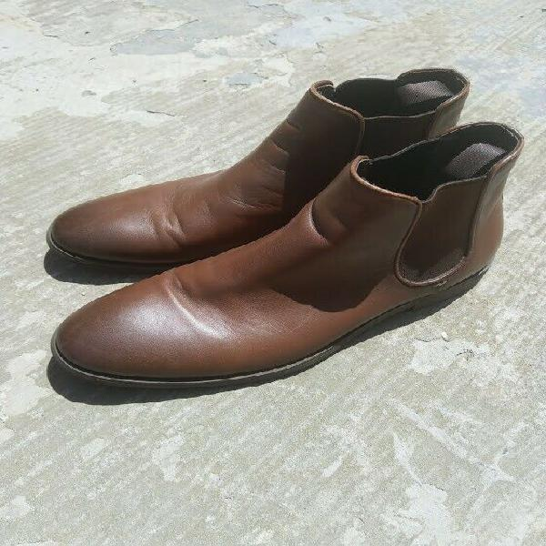 Mens shoes (country road) leather chelsea boot (uk size 9)