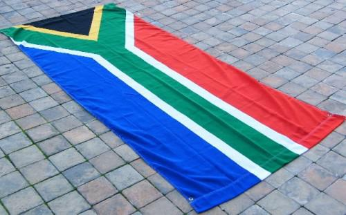 New south african flag/banner - 264cm x 114cm - excellent