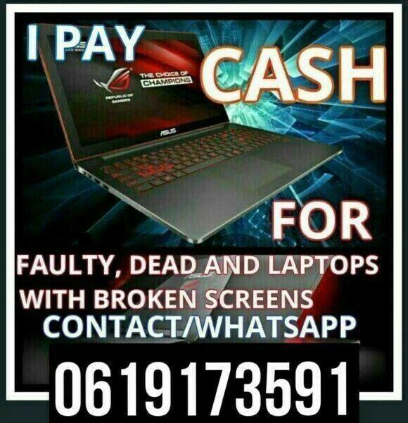 We buy all laptops faulty or working