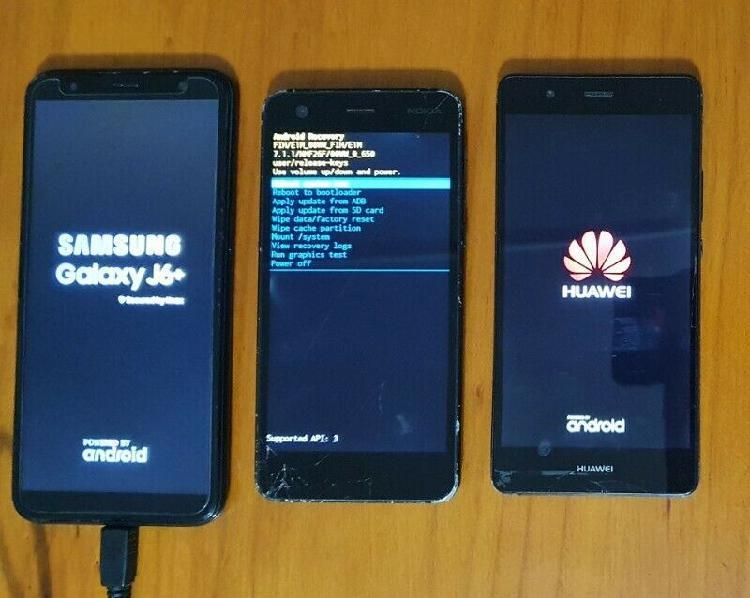 3 phones selling as is as spares or for repair