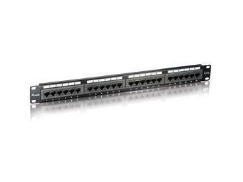 Equip 235324 panel, cat5e utp 24-port, 1u black - equip