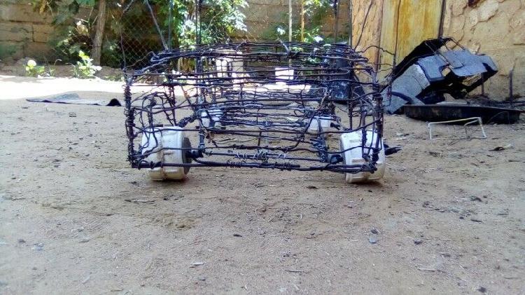 Handmade wire car
