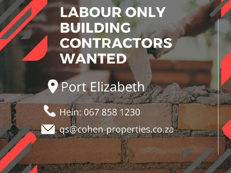 Jobs available* building contractors needed