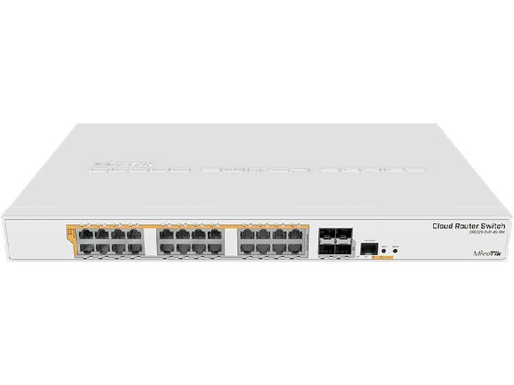Mikrotik cloud router switch 24 port gigabit poe 4sfp+ 450w