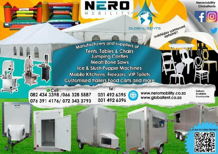 Chairs, tents, and other catering equipment
