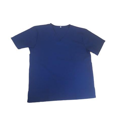 Blue scrub set non disposable 100% polyester fabric / m