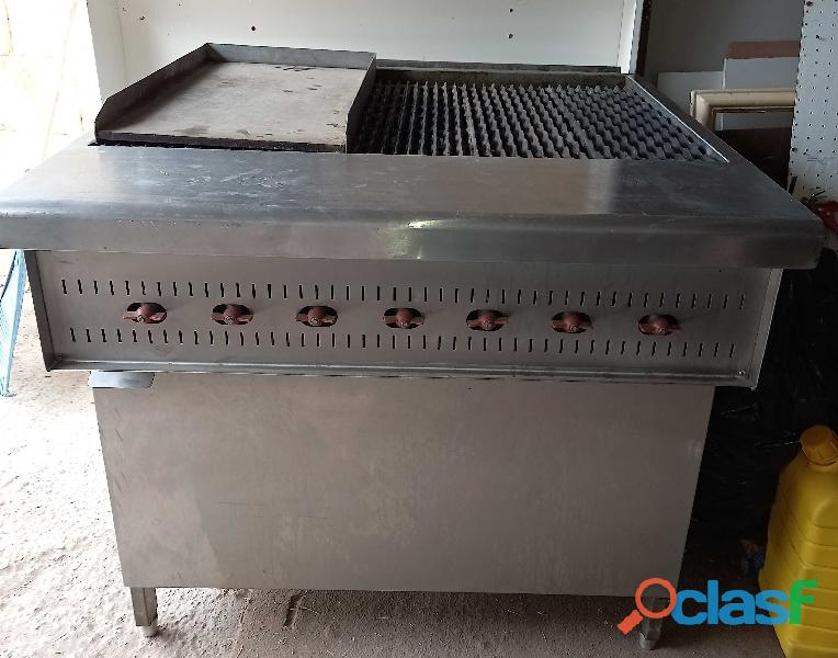 7 burner industrial gas griller