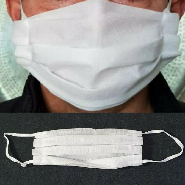 80 x white washable polypropylene 3 ply 60gsm masks