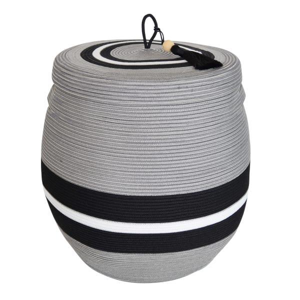 Mia melange mbizi large rounded lidded basket