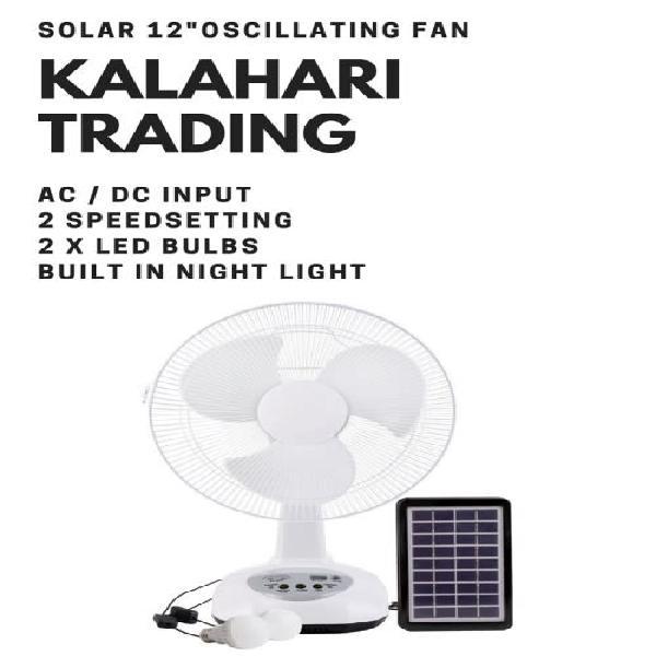 30cm solar fan...rechargeable internal battery...ac/dc