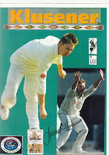 Re-list,very scarce signature lance klusener on lovely a4