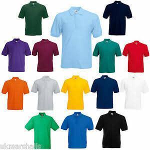 Golf t-shirts 170 gsm, poly cotton bulk buy 50 pieces