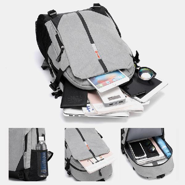 Fashion large capacity light weight backpack with usb