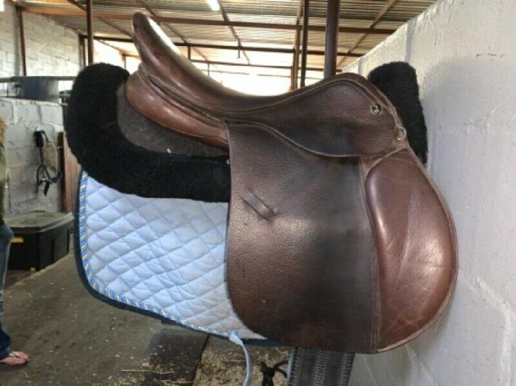 Gfs brown 16'5 saddle for sale!