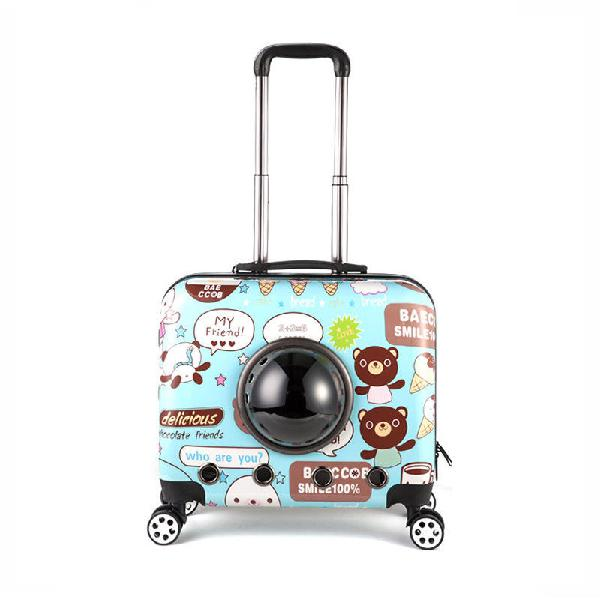 Ipree 18inch pet suitcase breathable cat dog trolley case
