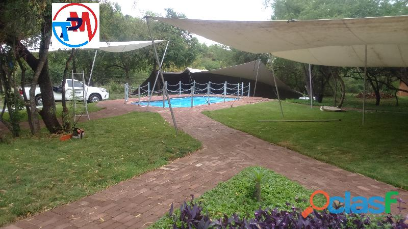 Waterproof strech tent for hire