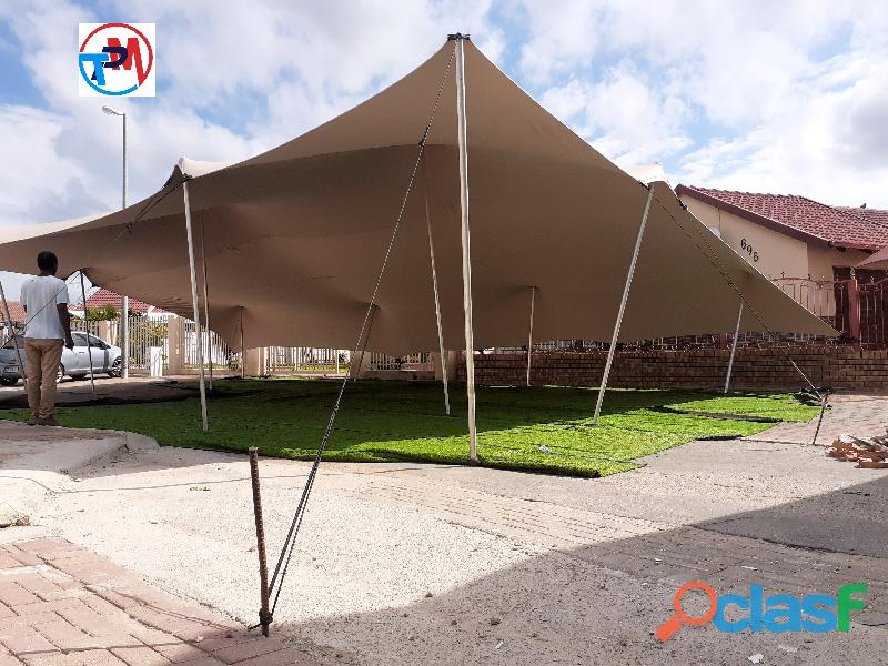 Waterproof strech tent for hire in polokwane