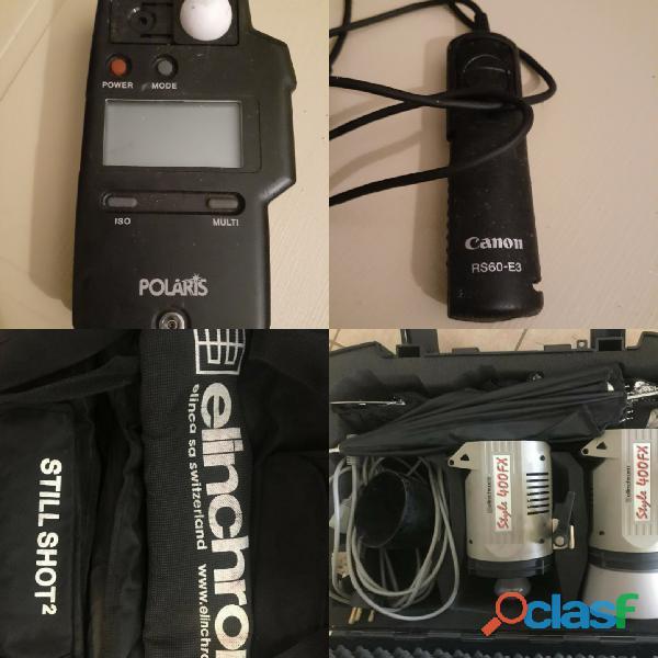 Elinchrome kit and lightmeter