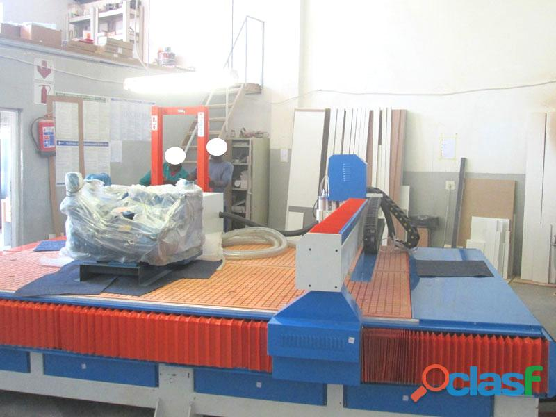 R 2040lk/75v easyroute 380v lite 2050x4000mm pvc clampable vacuum cnc router, 7.5kw high