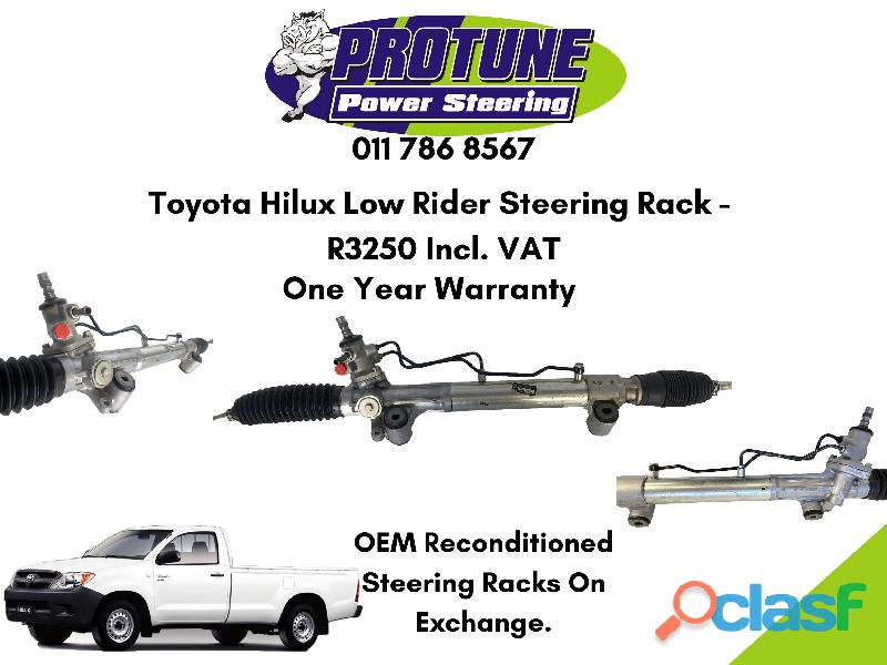 Toyota hilux low rider   oem reconditioned steering racks