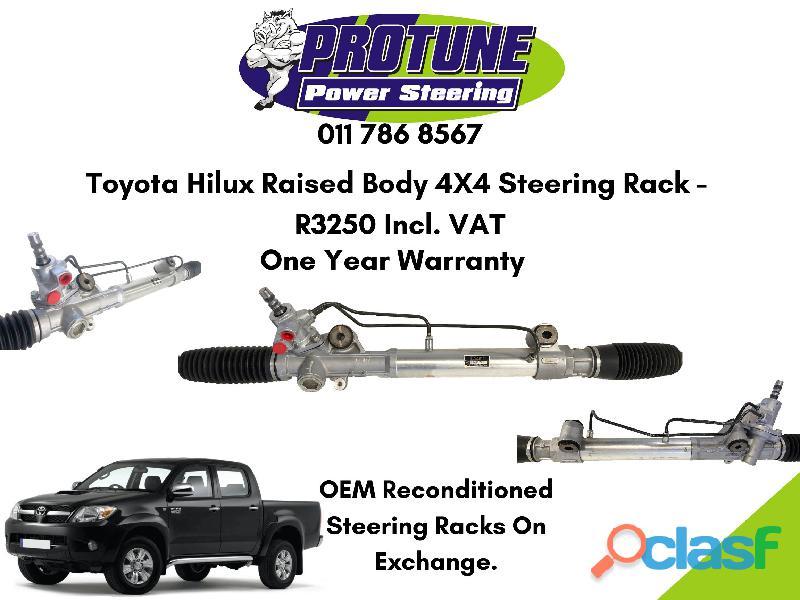 Toyota hilux raised body 4x4   oem reconditioned steering racks