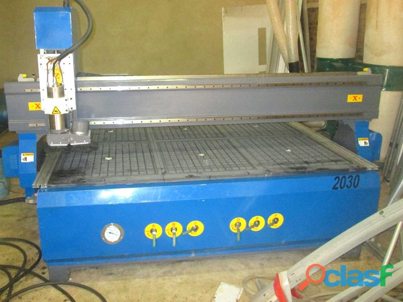 R 2030LC/45 EasyRoute 380V Lite 2050x3050mm Aluminium T Slot Clamping CNC Router, 4.5kW