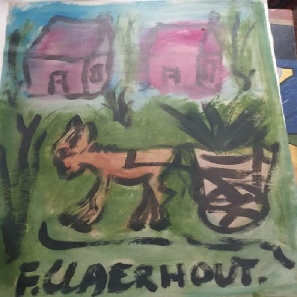 Famous claerhout donkey huge ! mixed media !! great