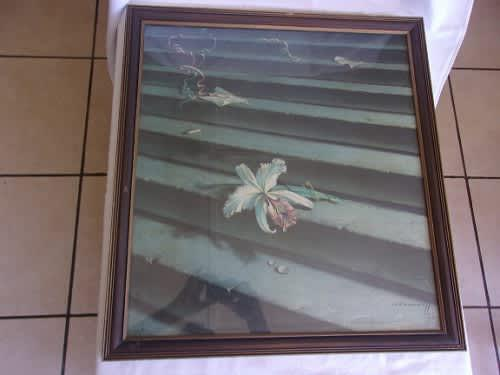 Large vintage framed print by vladimir tretchikoff - lost