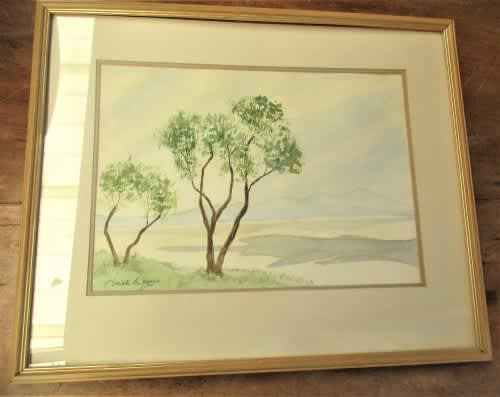 South african artist neville balfour landscape watercolour