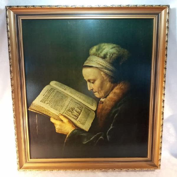 Vintage beautifully framed print of rembrandts mother