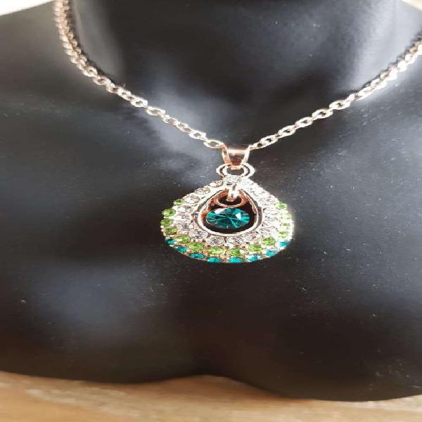 Angel water green rhinestones pendant fashion jewelry