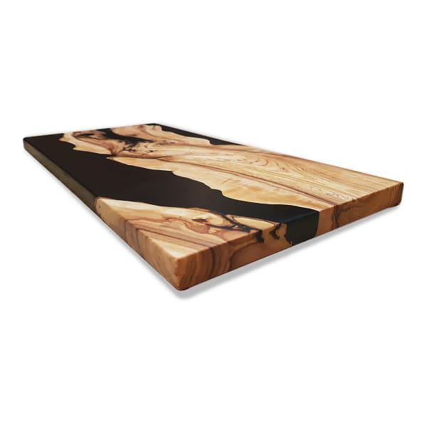 Objekt bespoke wild olive & resin charcuterie board, 37.5cm