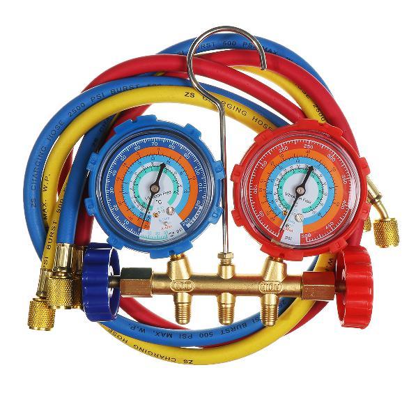 Air Conditioning AC Diagnostic Manifold Gauge Tool Set