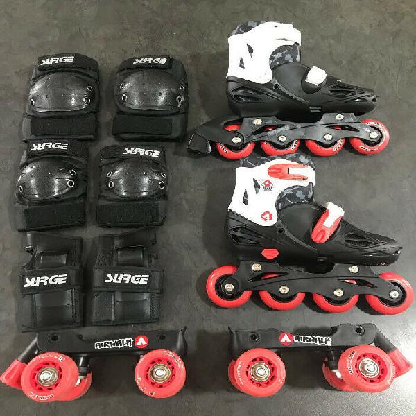 Airwalk Roller Skates and Roller blades Combo