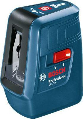 Bosch GLL 3 X Professional 3-Line Laser (Black and Blue)