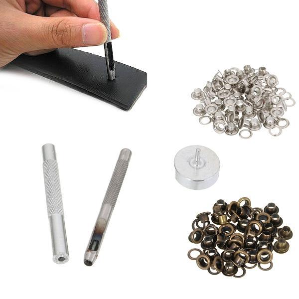 Leather tool grommet installation setting tool kit set