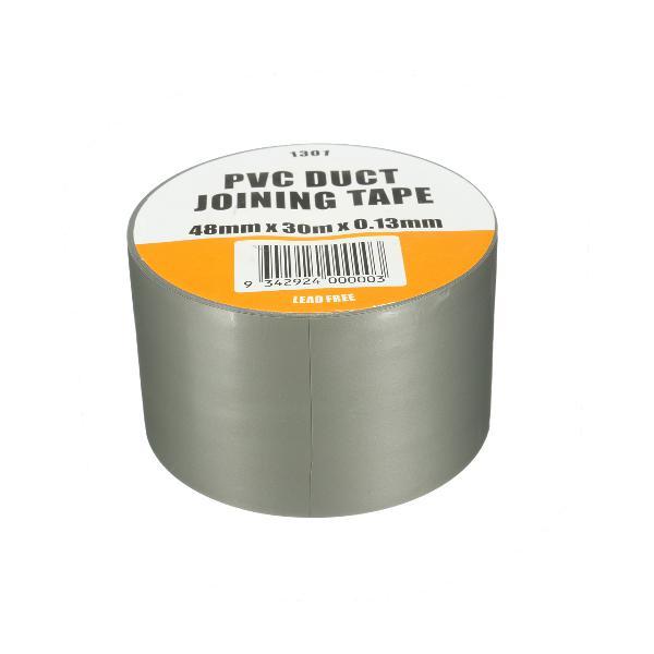 Pvc duct tape waterproof heavy duty gaffa cloth silver grey