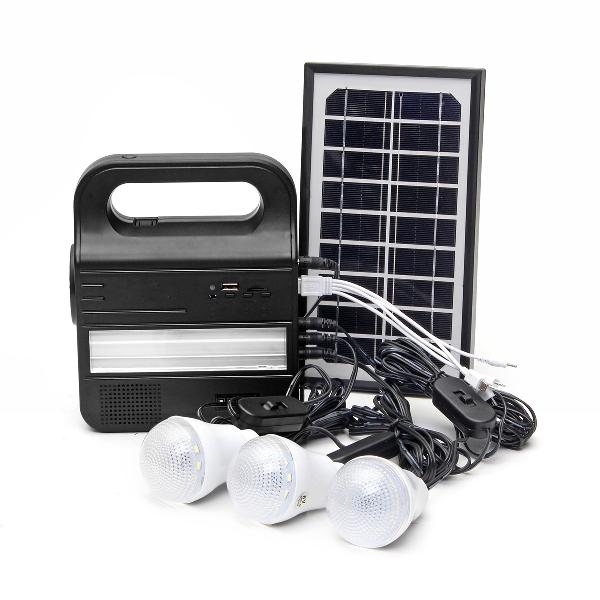 Solar generator portable solar panel lighting system usb