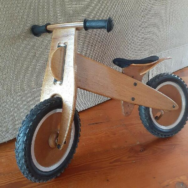 Wooden balance bike for kids